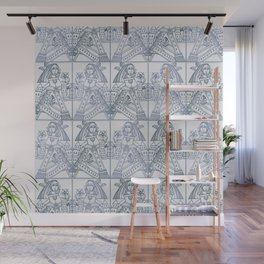 Ladies Only - Mid Century Modern Pale Blue Wall Mural