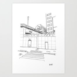 Brussels city - The Future is ... Art Print