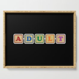All Grown Up Letter Blocks Serving Tray