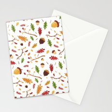 Autumn pattern Stationery Cards