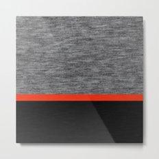 Athletic Grey Metal Print