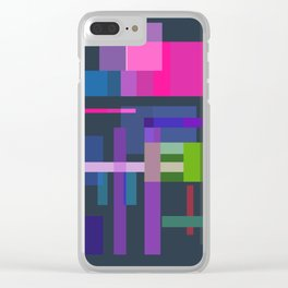 Imitation Mid-20th Century Abstraction, No. 3 Clear iPhone Case