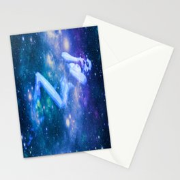 Blue Galaxy Woman : Nude Art Stationery Cards