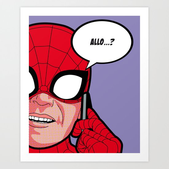 The secret life of heroes - SpiderPhone Art Print