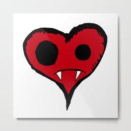 Heart Vampire Metal Print