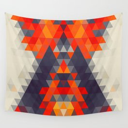 Abstract Triangle Mountain Wall Tapestry