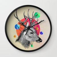 animals Wall Clocks featuring animals by mark ashkenazi