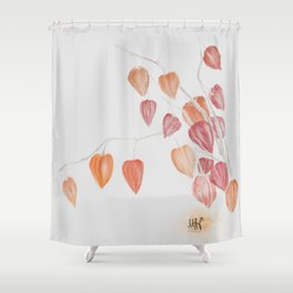 Autumn Gold Gooseberry Bush Shower Curtain