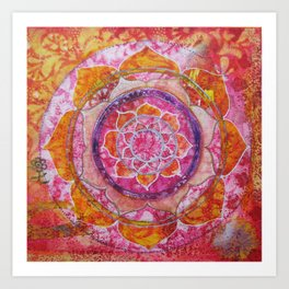 Creative Glow Mandala Art Print