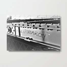 F*ck Patriarchy Graffiti on the Brooklyn Bridge Metal Print