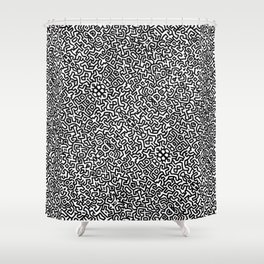 wall art K.Haring Shower Curtain