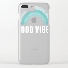 Great Vibe Cute Funny Summer Fun Distressed Rainbow Novelty Premium T-Shirt Clear iPhone Case