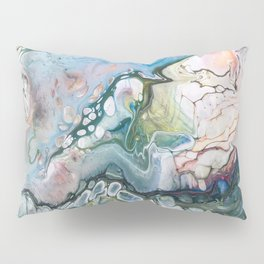 Sea and Land Acrylic Abstract Painting Pillow Sham