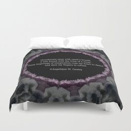 'Muse Touched Poem' by Angelique G. FromtheBreathofDaydreams Duvet Cover