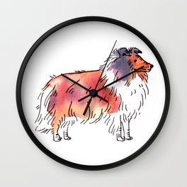 Toby - Dog Watercolour Wall Clock
