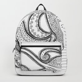 Female organs with Love Backpack