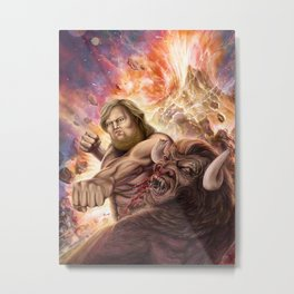 Neckbeard and the Minotaur Metal Print