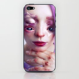 Starry Eyed Girl iPhone Skin