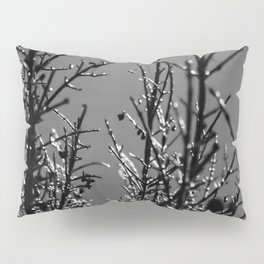 Icy Branches - Black and White Pillow Sham