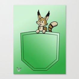 Pocket Yuki Canvas Print