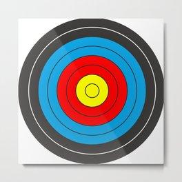 Yellow, red, blue, black target on white background Metal Print