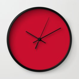 Kansas City Football Team Red Solid Mix and Match Colors Wall Clock