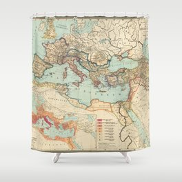 Vintage Map of The Roman Empire (1889) Shower Curtain