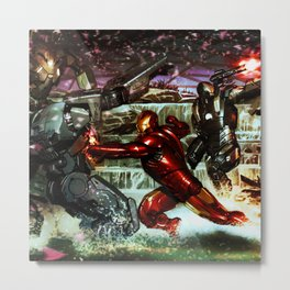 battles between robots Metal Print