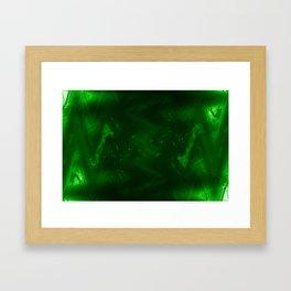 Dark green grunge Framed Art Print