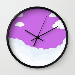 Cloud Background Wall Clock