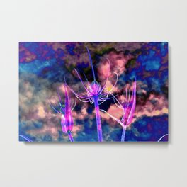 Foral Cloud Drama Metal Print