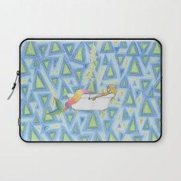 mermaid smoking in a bathtub Laptop Sleeve
