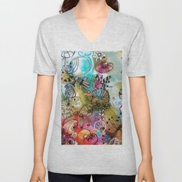Colorful flowers II Unisex V-Neck