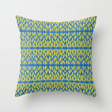 Blue and Yellow pattern of spheres #2 Throw Pillow
