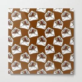 Fall Snail Mail Envelopes Metal Print