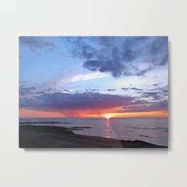 Sunset Rain Cloud Metal Print