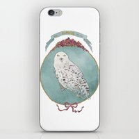 hedwig iPhone & iPod Skins featuring RIP Hedwig by 366Sketchbook