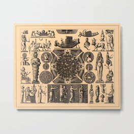 Iconographic Encyclopedia of Science, Literature and Art (1851) - Egyptian Religion 1 Metal Print