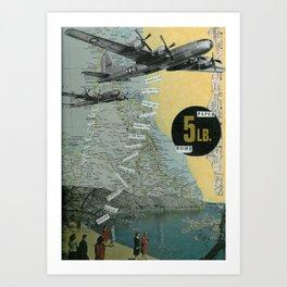 5 Lb. Paper Bomb Art Print