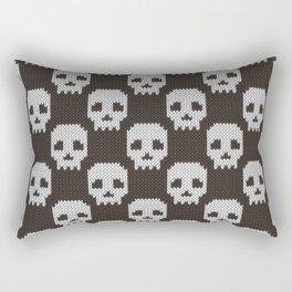 Knitted skull pattern Rectangular Pillow