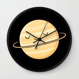 Happy Planet Saturn Wall Clock