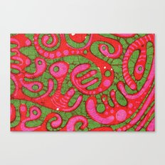 Doublewide Goove Batik Canvas Print
