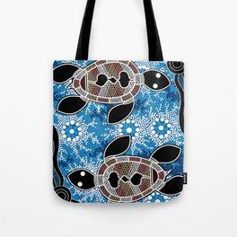 Aboriginal Art - Sea Turtles Tote Bag
