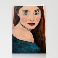 iris Stationery Cards featuring Iris by Sofia Azevedo
