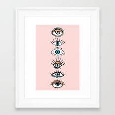 eye illustration print Framed Art Print
