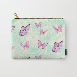 Watercolor pink butterflies Carry-All Pouch
