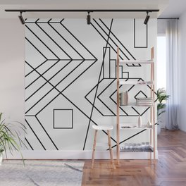Normality - Black and white abstract geometric minimalism Wall Mural