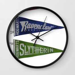 Vintage Hogwart's Pennant Collection Wall Clock