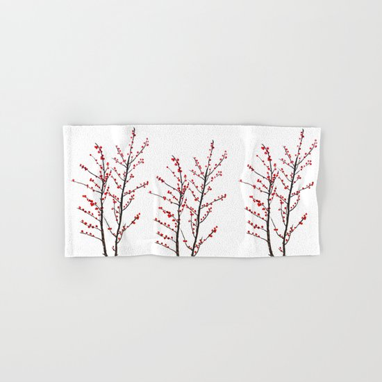 red beans branch Hand & Bath Towel
