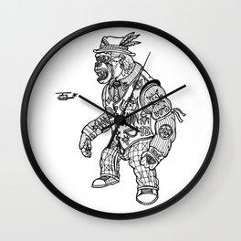 King Kong Black and White Wall Clock